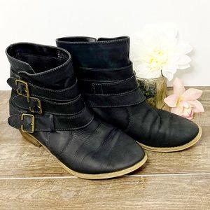 bp Black Leather Booties 9M